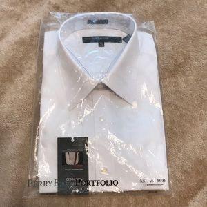 NWT Perry Ellis Portfolio white dress shirt
